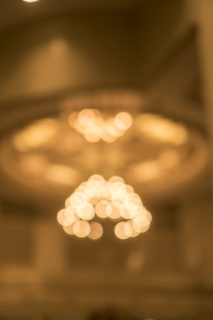 abstract blurry background of Lighting in the reception room of a luxury hotel.