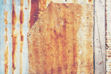 Old zinc wall, vintage filter image Stockfoto