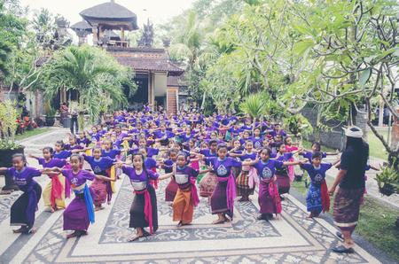 Balinese dancing, traditional dance and clothing, Kecamatan Buleleng, Bali, Indonesia, 2018