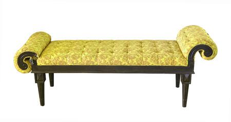 luxury leather armchair isolated