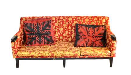 old luxury leather sofa isolated Stock Photo