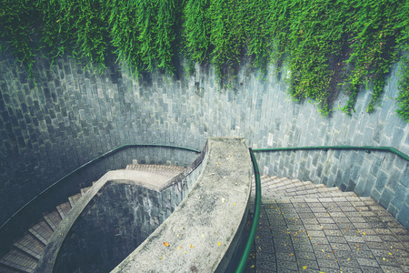 Spiral staircase at Fort Canning Park, Singapore Stock Photo