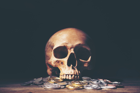 Halloween and business concept with money Standard-Bild