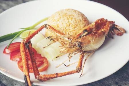 Shrimp fried rice, Thai food