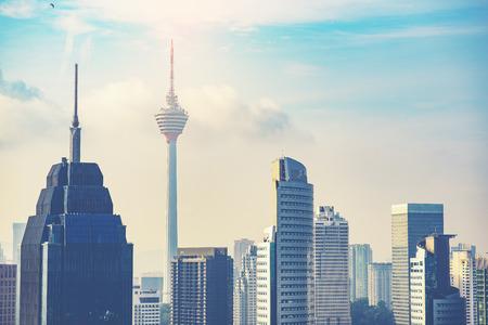 Kuala Lumpur City Centre Skyline Stock Photo