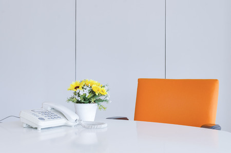 Work space in a modern office. Concept of time management, organized spaces