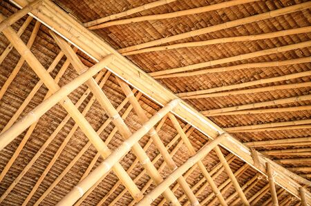 texture background of bamboo roof