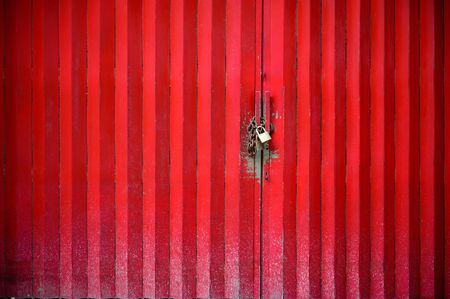 abstract texture background of red  galvanized wall 写真素材