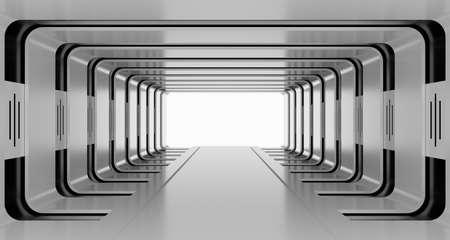 Futuristic abstract tunnel