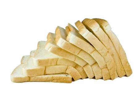 sliced bread isolated on white background photo