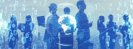 Global communication network concept. 版權商用圖片