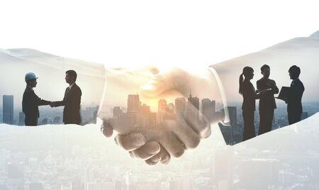 Partnership of business concept. Фото со стока