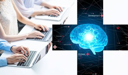 Business concept. AI (Artificial Intelligence).