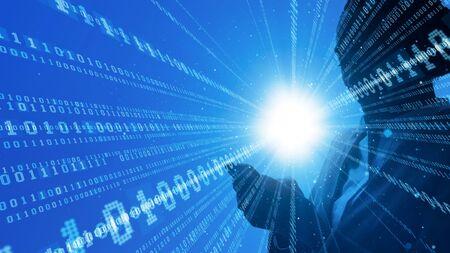 Digital Transformation Concept. Binary code. Foto de archivo
