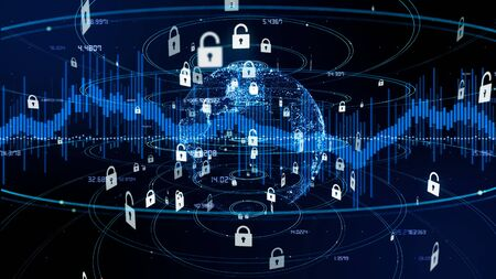 Network security concept. Cyber security.