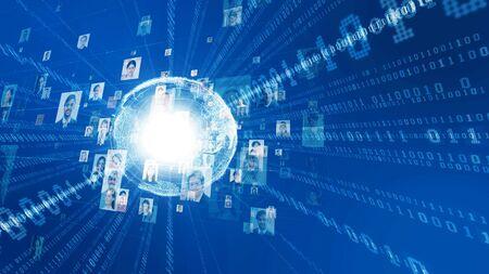 Global Communication network concept. Diversity. Foto de archivo