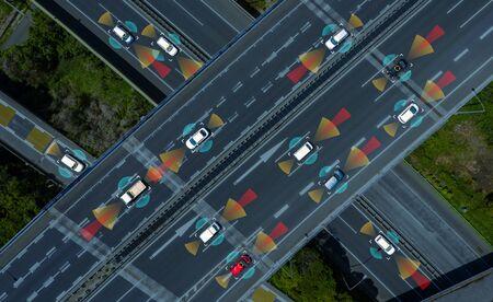 Driving assistant systems concept. Automotive technology. 免版税图像