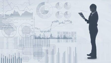 Business statistics concept. Investment. Marketing.