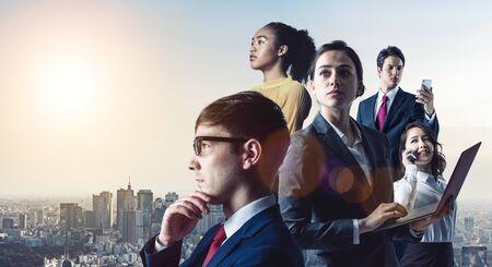 Global business concept. Group of Variety ethnic businessperson. Diversity. Foto de archivo