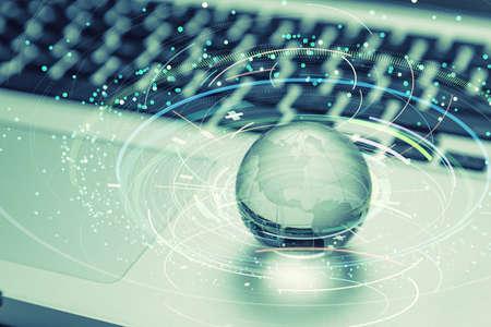 Global network concept. Digital technology. Stock fotó