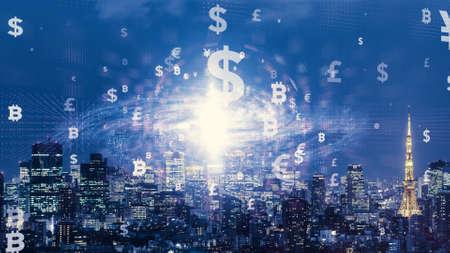 Financial technology concept. Fintech. Reklamní fotografie