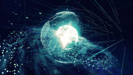 Global communication network concept. Reklamní fotografie
