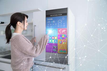 Smart refrigerator concept.