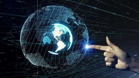 Global communication network concept. 写真素材