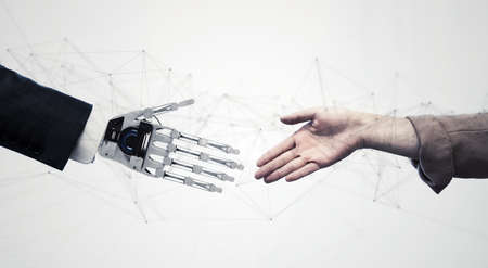 Coexistence of the human and the robot concept.