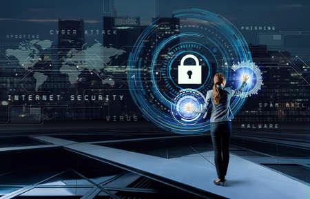 Internet security concept. Banco de Imagens