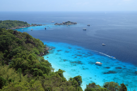 seaview: Wide angle view of Similan Islands Stock Photo