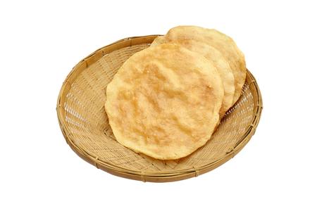 Thai cornflakes in the basket photo