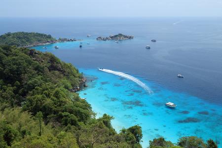 bird's eye view: Birds eye view of Similand Islands Stock Photo