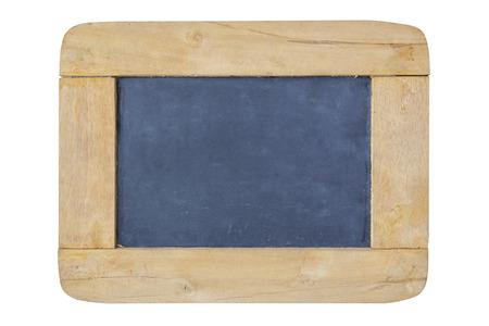 Tafel mit Holzrahmen auf weißem Hintergrund Standard-Bild - 41650211