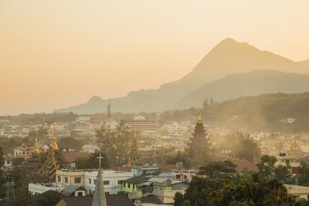 Schöne Ansicht von oben in Myanmar Standard-Bild - 44055464