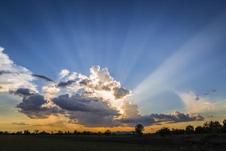 Abendsonne in der Landschaft Standard-Bild - 59365868