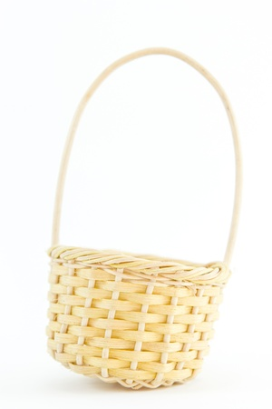 Empty basket isolated on white Stock Photo