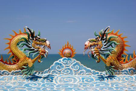 Double dragon Stock Photo - 19957617