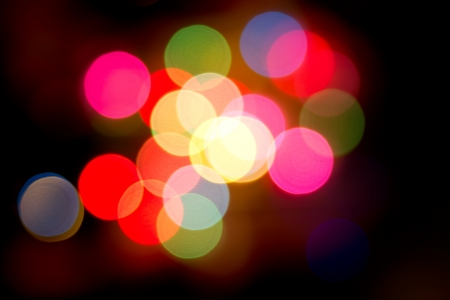 Defocused bokeh image of colorful christmas fairy lights Stock Photo - 20386901