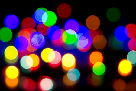 Defocused bokeh image of colorful christmas fairy lights Stock Photo - 20386912