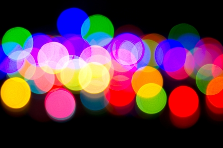 Defocused bokeh image of colorful christmas fairy lights Stock Photo - 20386908