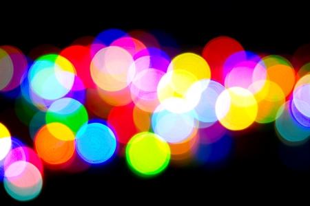 Defocused bokeh image of colorful christmas fairy lights Stock Photo - 20386903