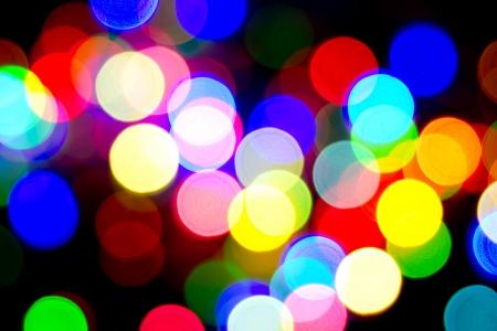Defocused bokeh image of colorful christmas fairy lights Stock Photo - 20386911