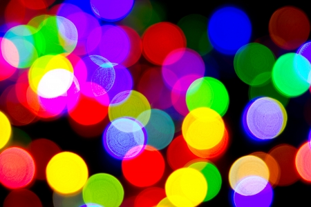 Defocused bokeh image of colorful christmas fairy lights Stock Photo - 20386913