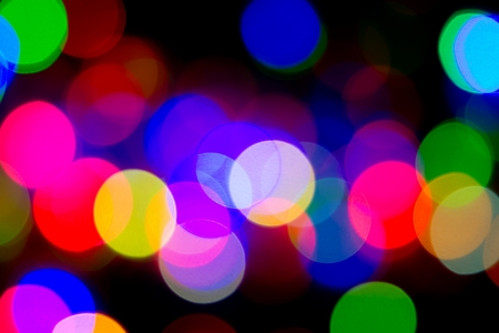 Defocused bokeh image of colorful christmas fairy lights Stock Photo - 20386904
