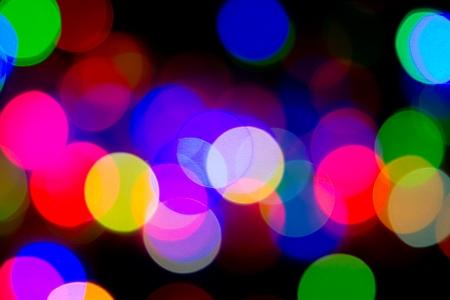 Defocused bokeh image of colorful christmas fairy lights Stock Photo - 20386904