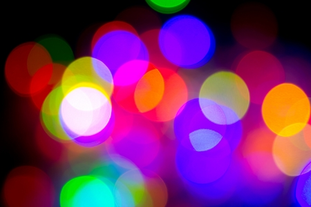Defocused bokeh image of colorful christmas fairy lights Stock Photo - 20386907