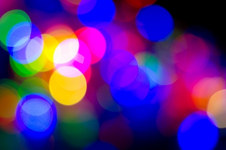 Defocused bokeh image of colorful christmas fairy lights Stock Photo - 20386909