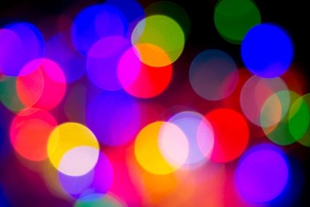 Defocused bokeh image of colorful christmas fairy lights Stock Photo - 20386905