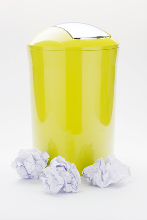 Color trash can on isolated  Stock Photo